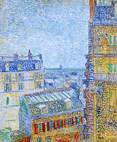 Vincent van Gogh: View from Theo's apartment