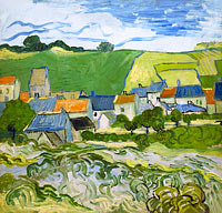 Vincent van Gogh: View of Auvers (2)
