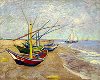Vincent van Gogh: Fishing boats on the beach at Les Saintes-Maries-de-la-Mer