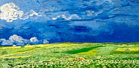 Vincent van Gogh: Wheatfield under thunderclouds