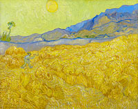 Vincent van Gogh: Wheatfield with a reaper