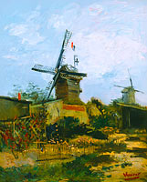 Vincent van Gogh: Windmills on Montmartre