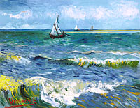 Vincent van Gogh: Seascape near Les Saintes-Maries-de-la-Mer