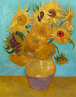 Винсент Ван Гог: Sunflowers / Vase with Twelve Sunflowers