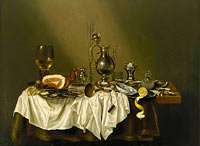 Willem Claesz. Heda: Banquet Piece with Ham