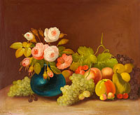 William Buelow Gould: Cabbage roses and fruit