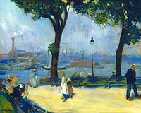 William Glackens: East River Park
