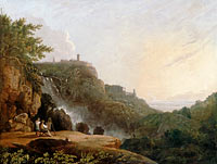 Richard Wilson: View of Tivoli: the Cascatelle and the 'Villa of Maecenas'