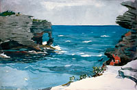 Winslow Homer: Rocky Shore, Bermuda