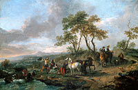 Philips Wouwerman: Halt of a Hunting Party
