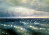 Ivan Konstantinovich Aivazovsky: The Black Sea. (A storm begins to whip up in the Black Sea)