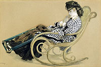 Young Woman in a Rocking Chair, study for the painting The Last Evening