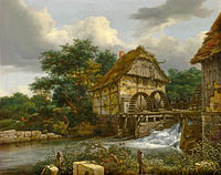 Якоб Исаакс ван Рёйсдал: Two Watermills and an Open Sluice