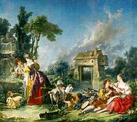 François Boucher: The Fountain of Love