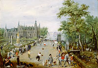 Adriaen van de Venne: A Jeu de Paume Before a Country Palace