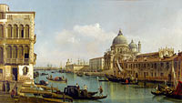 Bernardo Bellotto: View of the Grand Canal: Santa Maria della Salute and the Dogana from Campo Santa Maria Zobenigo