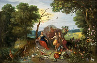 Jan Brueghel the Younger, Frans Francken the Younger: Landscape with Allegories of the Four Elements