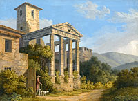Якоб Филипп Хаккерт: The Temple of Hercules in Cori near Velletri