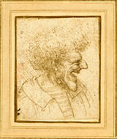 Caricature of a Man with Bushy Hair
