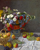 Клод Моне: Still Life with Flowers and Fruit