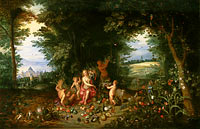 Jan Brueghel the Younger, Hendrik van Balen: Landscape with Ceres (Allegory of Earth)