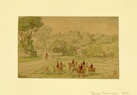 Томас Роуландсон: Landscape with Hunting Scene