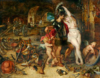 Peter Paul Rubens, Jan Brueghel the Elder: The Return from War: Mars Disarmed by Venus