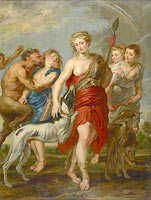 Peter Paul Rubens: Diana and Her Nymphs on the Hunt