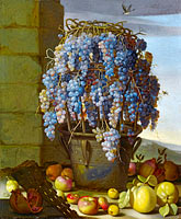 Лука Форте: Still Life with Grapes and other Fruit