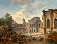 Юбер Робер: Demolition of the Château of Meudon