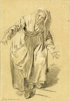 Old Woman with Arms Outstretched (Study for The Neapolitan Gesture)
