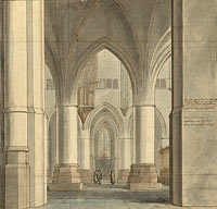 The Choir and North Ambulatory of the Church of Saint Bavo, Haarlem