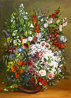 Гюстав Курбе: Bouquet of Flowers in a Vase