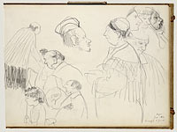 Sketches of Figures at a Funeral