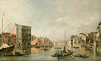 Франческо Гварди: The Grand Canal in Venice with Palazzo Bembo