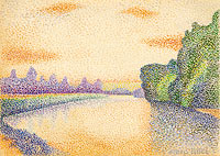 Albert Dubois-Pillet: The Banks of the Marne at Dawn