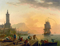 Claude-Joseph Vernet: A Calm at a Mediterranean Port