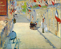 Эдуард Мане: The Rue Mosnier with Flags