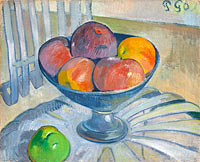 Поль Гоген: Fruit Dish on a Garden Chair