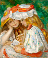 Пьер-Огюст Ренуар: Two Girls Reading