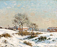 Camille Pissarro: Snowy Landscape at South Norwood