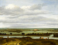 Антони ван Борссом: Panoramic Landscape near Rhenen with the Huis ter Lede