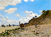 Клод Моне: The Beach at Honfleur