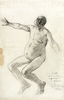 Study of a Nude Man Falling Backwards