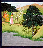 "Radha Lamenting with Her Confidante, Folio from the ""Garhwal"" Gita Govinda (Song of the Cowherd)"