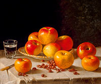 Still Life, Apples and Chestnuts