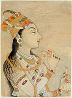 Idealized Portrait of the Mughal Empress Nur Jahan (1577-1645)?