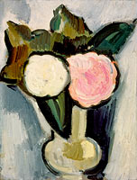 Marsden Hartley: Pink and White Flowers in a Vase