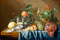 Jan Davidsz. de Heem: Still Life with Oysters and Grapes