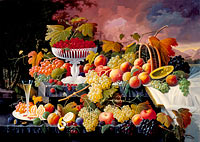 Северин Роесен: Fruit Still Life in a Landscape